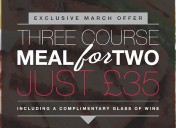 Three course meal for two – special offer!